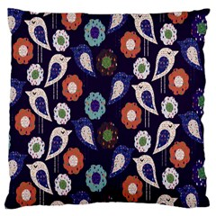 Cute Birds Pattern Large Cushion Case (two Sides) by Simbadda