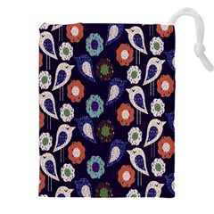 Cute Birds Pattern Drawstring Pouches (xxl)