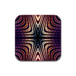 Colorful Seamless Vibrant Pattern Rubber Coaster (Square)  Front