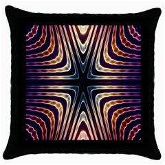 Colorful Seamless Vibrant Pattern Throw Pillow Case (black) by Simbadda
