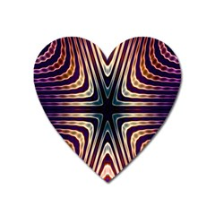 Colorful Seamless Vibrant Pattern Heart Magnet by Simbadda