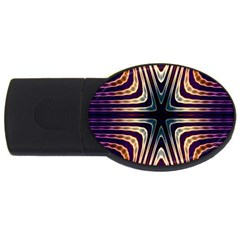 Colorful Seamless Vibrant Pattern Usb Flash Drive Oval (4 Gb) by Simbadda