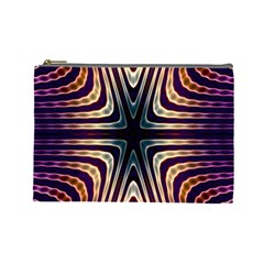 Colorful Seamless Vibrant Pattern Cosmetic Bag (large)