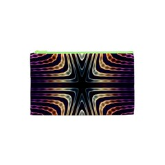 Colorful Seamless Vibrant Pattern Cosmetic Bag (xs) by Simbadda