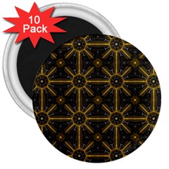 Seamless Symmetry Pattern 3  Magnets (10 Pack)