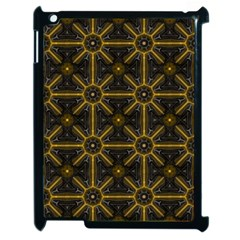 Seamless Symmetry Pattern Apple Ipad 2 Case (black) by Simbadda