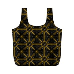 Seamless Symmetry Pattern Full Print Recycle Bags (m)  by Simbadda