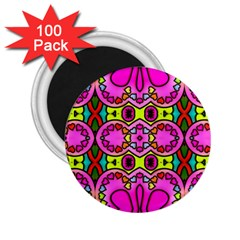 Love Hearths Colourful Abstract Background Design 2 25  Magnets (100 Pack)