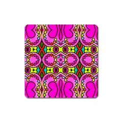 Love Hearths Colourful Abstract Background Design Square Magnet by Simbadda