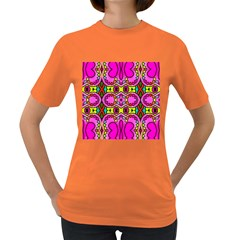 Love Hearths Colourful Abstract Background Design Women s Dark T-shirt by Simbadda