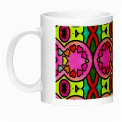 Love Hearths Colourful Abstract Background Design Night Luminous Mugs by Simbadda