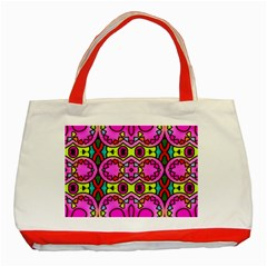 Love Hearths Colourful Abstract Background Design Classic Tote Bag (red)