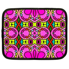 Love Hearths Colourful Abstract Background Design Netbook Case (large) by Simbadda