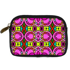 Love Hearths Colourful Abstract Background Design Digital Camera Cases by Simbadda