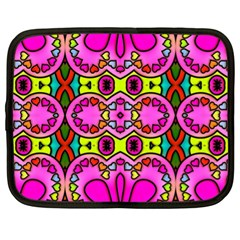 Love Hearths Colourful Abstract Background Design Netbook Case (xl)