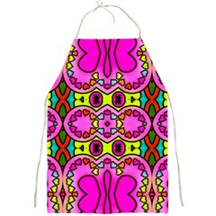 Love Hearths Colourful Abstract Background Design Full Print Aprons
