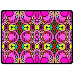 Love Hearths Colourful Abstract Background Design Fleece Blanket (large)  by Simbadda