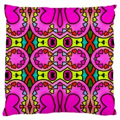 Love Hearths Colourful Abstract Background Design Large Cushion Case (one Side) by Simbadda