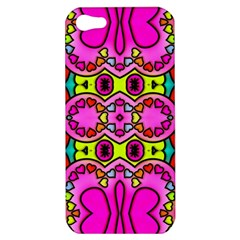 Love Hearths Colourful Abstract Background Design Apple Iphone 5 Hardshell Case by Simbadda