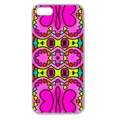 Love Hearths Colourful Abstract Background Design Apple Seamless Iphone 5 Case (clear) by Simbadda