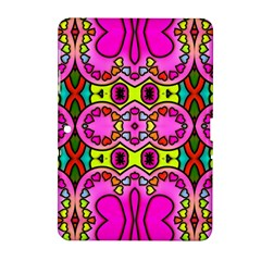 Love Hearths Colourful Abstract Background Design Samsung Galaxy Tab 2 (10 1 ) P5100 Hardshell Case  by Simbadda