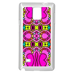 Love Hearths Colourful Abstract Background Design Samsung Galaxy Note 4 Case (white) by Simbadda