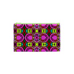Love Hearths Colourful Abstract Background Design Cosmetic Bag (xs) by Simbadda