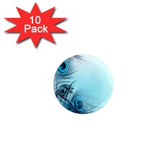 Feathery Background 1  Mini Magnet (10 Pack)
