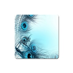 Feathery Background Square Magnet by Simbadda