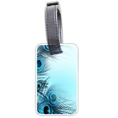 Feathery Background Luggage Tags (one Side)  by Simbadda