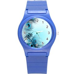Feathery Background Round Plastic Sport Watch (s) by Simbadda
