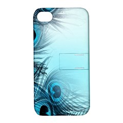Feathery Background Apple Iphone 4/4s Hardshell Case With Stand by Simbadda
