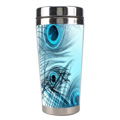 Feathery Background Stainless Steel Travel Tumblers by Simbadda