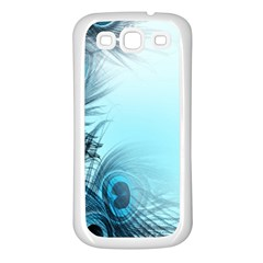 Feathery Background Samsung Galaxy S3 Back Case (white) by Simbadda