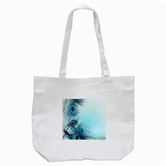Feathery Background Tote Bag (white) by Simbadda