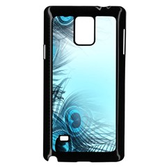 Feathery Background Samsung Galaxy Note 4 Case (black) by Simbadda