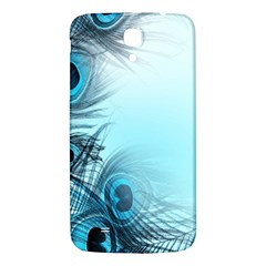 Feathery Background Samsung Galaxy Mega I9200 Hardshell Back Case by Simbadda