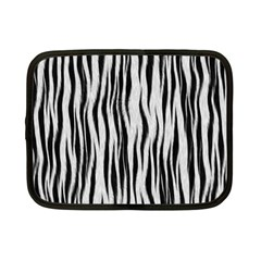 Black White Seamless Fur Pattern Netbook Case (small)  by Simbadda