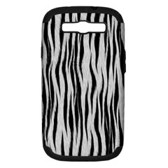 Black White Seamless Fur Pattern Samsung Galaxy S Iii Hardshell Case (pc+silicone) by Simbadda