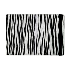 Black White Seamless Fur Pattern Ipad Mini 2 Flip Cases by Simbadda