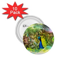 Peacock Digital Painting 1 75  Buttons (10 Pack) by Simbadda