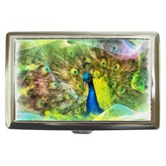 Peacock Digital Painting Cigarette Money Cases by Simbadda