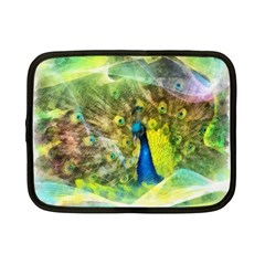 Peacock Digital Painting Netbook Case (small)  by Simbadda