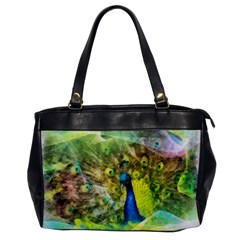 Peacock Digital Painting Office Handbags by Simbadda