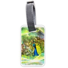 Peacock Digital Painting Luggage Tags (two Sides) by Simbadda