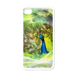 Peacock Digital Painting Apple Iphone 4 Case (white)