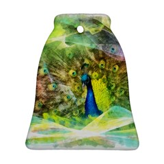 Peacock Digital Painting Bell Ornament (two Sides) by Simbadda