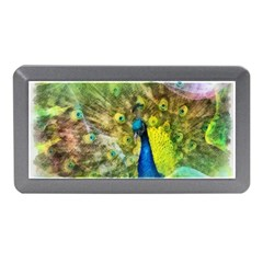 Peacock Digital Painting Memory Card Reader (mini) by Simbadda