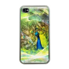Peacock Digital Painting Apple Iphone 4 Case (clear) by Simbadda