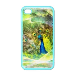 Peacock Digital Painting Apple Iphone 4 Case (color) by Simbadda